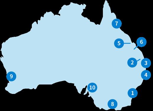 オーストラリア:マップ