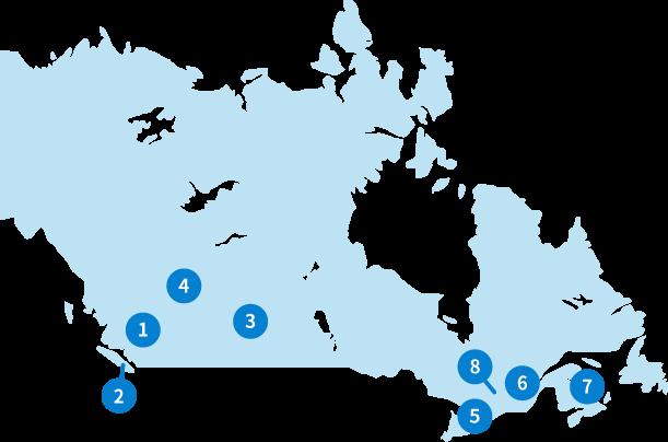 カナダ:マップ