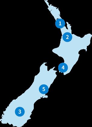 ニュージーランド:マップ